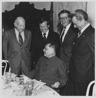 Group including Howard Baker and Robert Byrd with Tsio Peng Deng