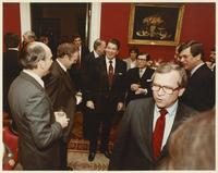 Group including Howard Baker and Ronald Reagan at a Luncheon for Congressional Leadership