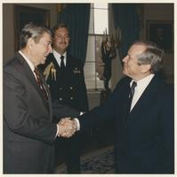 Howard Baker and Ronald Reagan