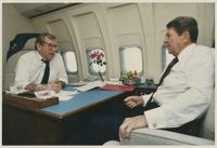 Howard Baker and Ronald Reagan Aboard Air Force One