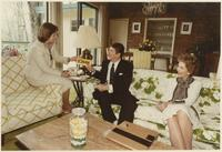 Cynthia Baker, Ronald Reagan and Nancy Reagan at the Baker Home