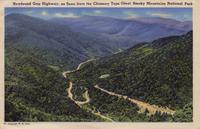 Newfound Gap Highway, as Seen from the Chimney Tops, Great Smoky Mountains National Park