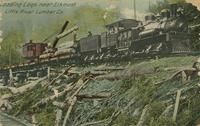 Loading Logs near Elkmont, Little River Lumber Co.