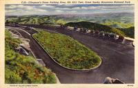 Clingman's Dome Parking Area, Alt. 6311 Feet, Great Smoky Mountains National Park.