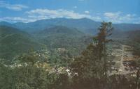 Gatlinburg, Tennessee and Mt. LeConte seen from the top of the Skylift (GS-116)