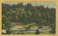 Greenbrier Lodge and Pool, Gatlinburg, Tenn., Entrance to Great Smoky Mountains National Park (558)