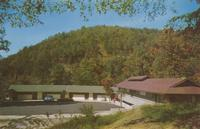 "Skyland Motel ""Panoramic Views of the Great SMokies"" Entrance on State 73 - 1 block off U. S. 441 Gatlinburg, Tenn."