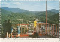 View of the Smoky Mountains from the Space Needle, Gatlinburg, Tenn. (GS-518)