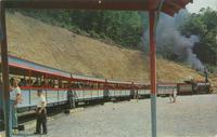 The Rebel Railroad, about to Depart from Rebeltown, Pigeon Forge, Tennessee