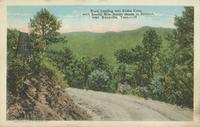 Road Leading into Cades Cove, with Smoky Mts. Range shown in distance near Knoxville, Tenn. (59)