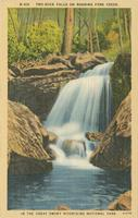 Two-Rock Falls on Roaring Fork Creek. In the Great Smoky Mountains National Park (N-419)