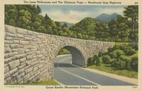 The Loop Underpass and the Chimney Tops - Newfound Gap Highway Great Smoky Mountains National Park