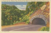 Tunnel and the Chimney Tops, Newfound Gap Highway, Great Smoky Mountains National Park (208)