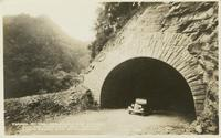 Tunnel on the Newfound Gap Highway and the Chimneys Ele. 4750 Ft. Great Smoky Mts. National Park (1-I-99)