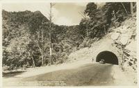 Tunnel on the Newfound Gap Highway and the Chimneys - Elv. 4750 Ft. Great Smoky Mtn. Natl. Park (1-I-99)