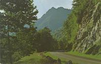 The Chimney Tops and Highway U. S. 441 - Great Smoky Mountains National Park (GS-317)
