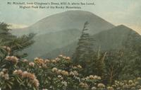 Mt. Mitchell, from Clingman's Dome, 6711 ft. above Sea Level, Highest Peak East of the Rocky Mountains