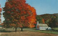 A Country Church in the Mountains and Vivid Autumn Display (K-47)