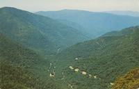 Transmountain Highway U. S. 441 as seen from the CHimney Tops, Great Smoky Mountains National Park (GS-38)