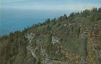 Aerial View of Cliff Top at the Summit of Mt. LeConte, Great Smoky Mountains National Park (GS-468)
