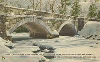 Winter Time Scene Showing one of the Native Stone Bridges on Newfound Gap Highway in the Great Smoky Mountains National Park (G-229)