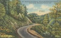 Newfound Gap Highway, showing Newfound Gap in Distance, Great Smoky Mountains National Park (529)
