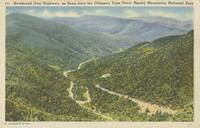 Newfound Gap Highway, as Seen from the Chimney Tops, Great Smoky Mountains National Park (205)