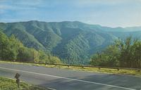 View from the New Section of U. S. 441 on the North Carolina Side of the Great Smoky Mountains National Park (GS-419)