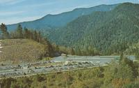 Air View of Newfound Gap - Where U.S. 441 Crosses the Main Range of the Smoky Mountains at an Elevation of 5048 Feet - Great Smoky Mountains National Park (GS-480)