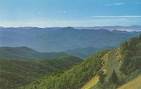 View from Waterrock Knob showing the Blue Ridge Parkway - Western North Carolina (CM-86)