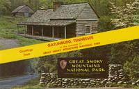 Greetings from Gatlinburg, Tennessee at the Entrance to Great Smoky Mountains National Park (GS-413)