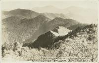 Sawteeth, Mt. Guyot, Mt. Chapman, from the Jumpoff Great Smoky Mtn. Natl. Park (1-I-83)