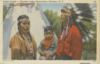 Indian family - Cherokee Indian Reservation, Cherokee, N.C.