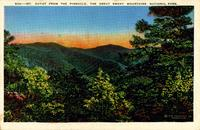 Mt. Guyot from the Pinnacle, the Great Smoky Mountains National Park.
