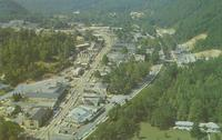 Air View of Gatlinburg, Tennessee at the Entrance to the Great Smoky Mountains National Park (GS-217)