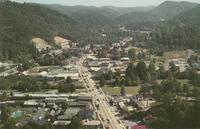 Air View of Gatlinburg, Tennessee at the Entrance to the Great Smoky Mountains National Park (GS-220)