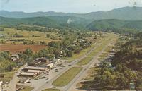 Pigeon Forge, Tennessee Showing the Great Smoky Mountains in the Distance (GS-494)