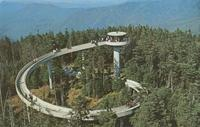 Observation Tower atop Clingmans Dome - Highest Peak in the Great Smoky Mountains National Park (GS-488)