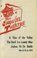 A View of the Valley; The Devil is a Lonely Man; Joshua Fit De Battle