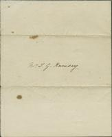 Letter, H.R. Frost, in Charleston, S.C., to J.G.M. Ramsey in Charleston, S.C. 1829 Mar. 17