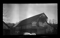Cantilever barn near Chilhowee Mountain