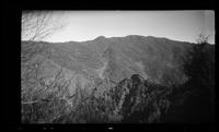 View of Chimney Tops and Mount Le Conte from Sugarland Mountain