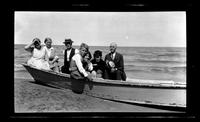 Untitled photograph of group in boat