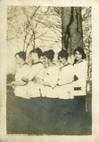 Five girls outside
