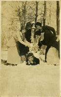 Ladies playing in the snow