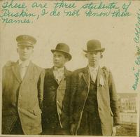 Three students of Ruskin