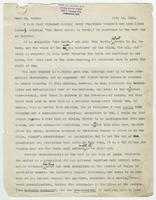 Letter from Leander S. Keyser to William Jennings Bryan