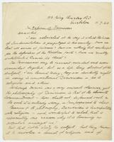 "Letter from H. Reinheimer ""In Defence of Tennessee; Dear Sir"""