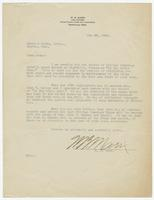 Letter from W.B. Marr to Hicks & Hicks, Attys.