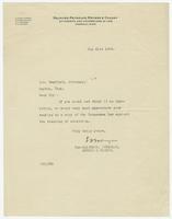 Letter from Salinger, Reynolds, Meyers & Cooney to J.B. Swafford
